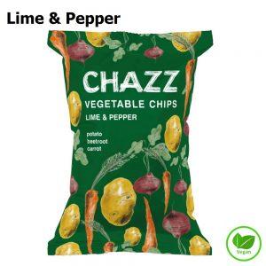 CHAZZ Daržovių traškučiai žaliosios citrinos ir pipirų skonio 75 g