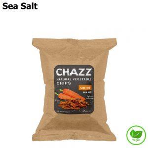 CHAZZ Morkų traškučiai su jūros druska 50 g