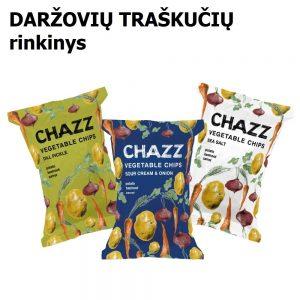 Daržovių traškučių rinkinys CHAZZ 4 skirtingi skoniai