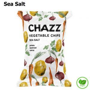 CHAZZ Daržovių traškučiai su jūros druska 75 g